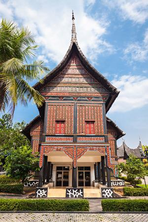 traditional house: West Sumatra pavilion in Taman Mini Indonesia Park.