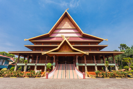Riau pavilion inside Taman Mini Indonesia Park. Editorial