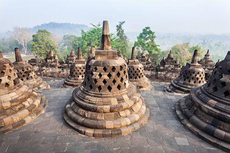 stupas: Stupas in Borobudur Temple, Central Java, Indonesia