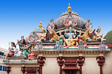스리 마리암 만 사원은 싱가포르에서 가장 오래된 힌두 사원입니다. 스톡 콘텐츠