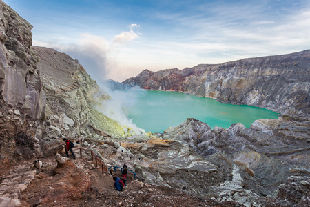 stratovolcano: The Ijen volcano is a stratovolcano in the Banyuwangi Regency of East Java, Indonesia