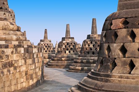borobudur: Stupas in Borobudur Temple, Central Java, Indonesia