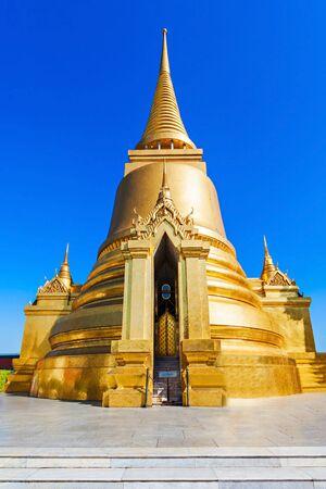 statue: Phra Sri Rattana Chedi in Sri Lankan style at Wat Phra Kaew Temple in Bangkok, Thailand