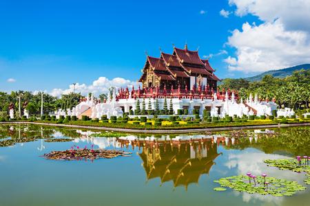 Royal Palace: The Royal Pavilion (Ho Kham Luang) in Royal Park Rajapruek near Chiang Mai, Thailand
