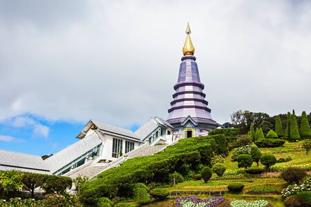 at the highest: Royal Chedi near Doi Inthanon - the highest mountain in Thailand