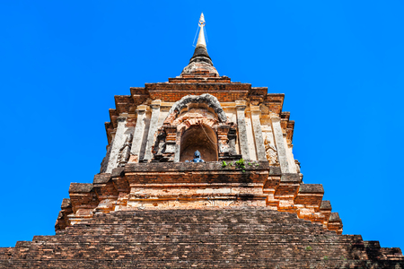 molee: Chedi at Wat Lok Molee Temple in Chiang Mai, Thailand Stock Photo