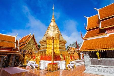 Wat Phra That Doi Suthep is a Theravada buddhist temple near Chiang Mai, Thailand