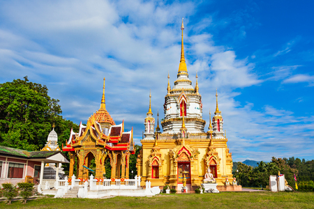 namtok: Wat Namtok Mae Klang is buddhist temple located in Chiang Mai Province, Thailand