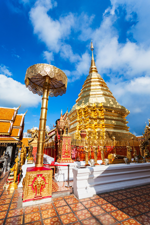 Wat Phra That Doi Suthep is a Theravada buddhist temple in Chiang Mai Province, Thailand Stock Photo