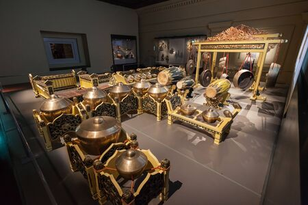 civilisations: SINGAPORE - OCTOBER 15, 2014: Asian Civilisations Museum interior.