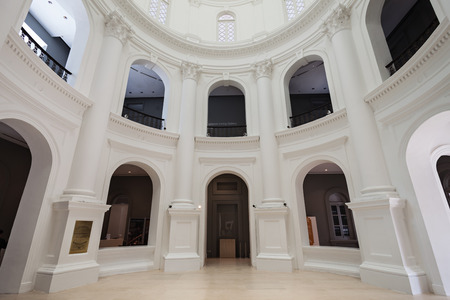 SINGAPORE - OCTOBER 17, 2014: The National Museum of Singapore interior. It is the oldest museum in Singapore.