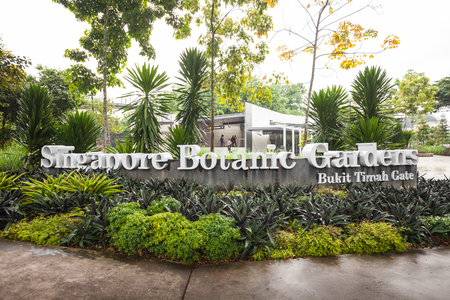 SINGAPORE - OCTOBER 17, 2014: The Singapore Botanic Gardens is a 74-hectare botanical garden in Singapore.