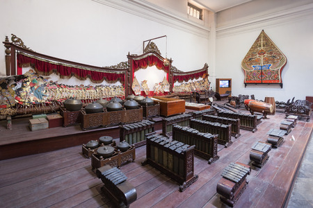 JAKARTA, INDONESIA - OCTOBER 19, 2014: Inside The National Museum of Indonesia. It is an archeological, historical, ethnological, and  geographical museum.