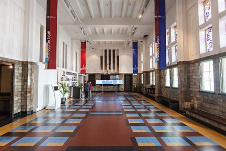 JAKARTA, INDONESIA - OCTOBER 19, 2014: Bank Indonesia Museum interior. Editorial