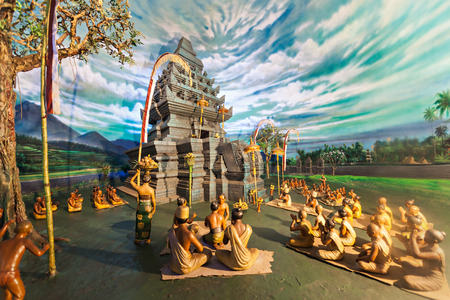 JAKARTA, INDONESIA - OCTOBER 19, 2014: Diorama in The Indonesian National History Museum below Monas. Editorial