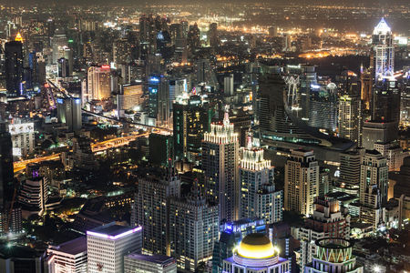 bangkok NIGHT: BANGKOK, THAILAND - NOVEMBER 09, 2014: Bangkok night view from Baiyoke Tower, Thailand