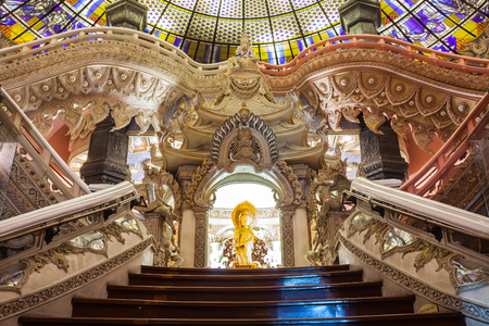thai culture: BANGKOK, THAILAND - NOVEMBER 11, 2014: Erawan Museum interior. It is a museum in Bangkok, Thailand.