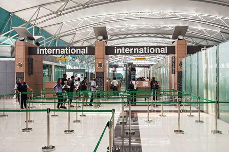 jakarta: JAKARTA, INDONESIA - OCTOBER 28, 2014: Soekarno Hatta International Airport is the main airport serving the greater Jakarta area on the island  of Java.