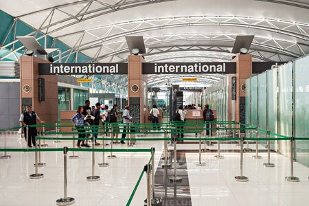 JAKARTA, INDONESIA - OCTOBER 28, 2014: Soekarno Hatta International Airport is the main airport serving the greater Jakarta area on the island  of Java.