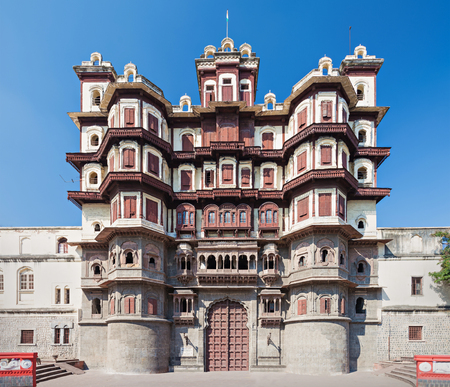 Rajwada is a historical palace in Indore city, India Stock Photo