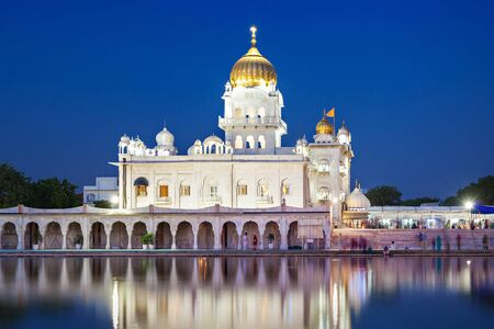 gurudwara: Gurdwara Bangla Sahib is the most prominent Sikh gurdwara Stock Photo