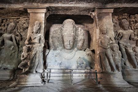 Elephanta Island caves near Mumbai in Maharashtra state, India Foto de archivo
