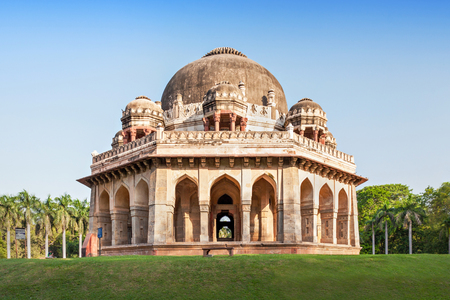 15th century: Lodi Gardens - architectural works of the 15th century Sayyid and Lodhis, an Afghan dynasty, New Delhi Stock Photo