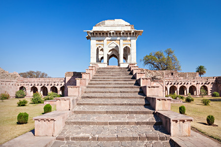 madhya: Ahrafi Mahal in Mandu, Madhya Pradesh, India