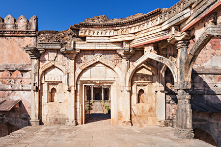 pradesh: Old Mosque in Mandu, Madhya Pradesh, India Stock Photo
