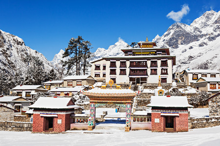 Tengboche Klooster in Tengboche, Everest, Nepal Stockfoto
