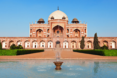 monument in india: Humayuns Tomb, New Delhi, India Stock Photo
