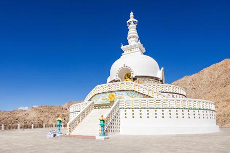 shanti: Shanti Stupa is a Buddhist white-domed stupa in Leh, India