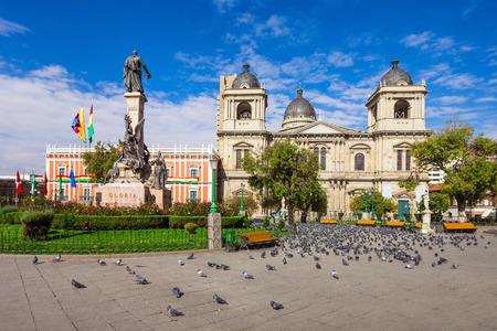 murillo: Metropolitan Cathedral is located on Plaza Murillo Square in La Paz, Bolivia