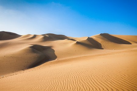 Huacachina desert dunes in Ica Region, Peru