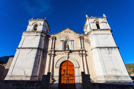san pedro: San Pedro de Alcantara Church in Cabanaconde, Peru