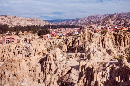 Valle de la Luna (Moon Valley) near La Paz, Bolivia Stock Photo