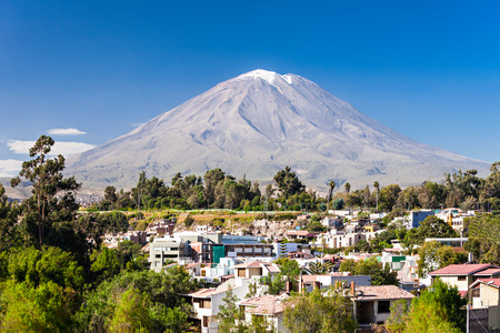 Misti, also known as Putina is a stratovolcano located in Arequipa, Peru Фото со стока