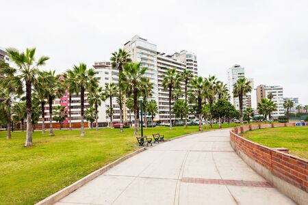 miraflores district: Miraflores is a district of the Lima Province in Peru Stock Photo