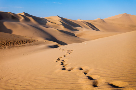Sanddünen in der Wüste Huacachina, Ica Region, Peru
