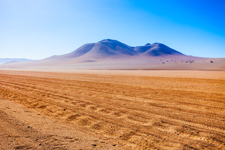 salvador dali: Salvador Dali Desert, also known as Dali Valley is an extremely barren valley of southwestern Bolivia Stock Photo