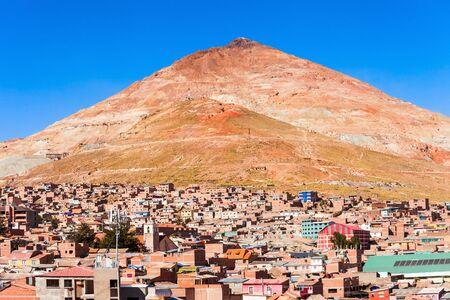 lorenzo: Cerro Rico mountain from San Lorenzo Church in Potosi, Bolivia Stock Photo