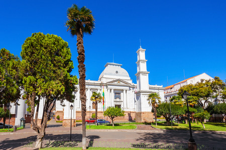 constitutional: Supreme Court Of Bolivia In Sucre is located in Sucre, the constitutional capital of Bolivia Stock Photo