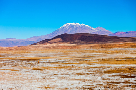 stratovolcano: Ollague stratovolcano in the Andes, on the border between Bolivia and Chile. Stock Photo