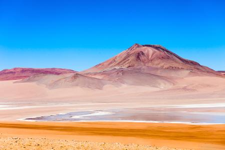 altiplano: Beauty lake and volcano on Altiplano, Bolivia