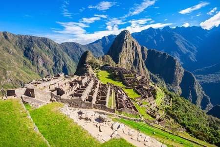 View of the Lost Incan City of Machu Picchu near Cusco, Peru.