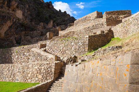 inca ruins: Ollantaytambo Inca ruins in Ollantaytambo town, Peru.