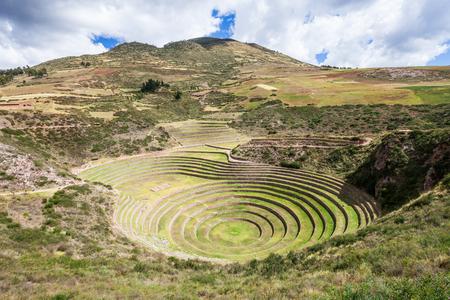 incan: Moray Incan agricultural terraces at Moray, Peru
