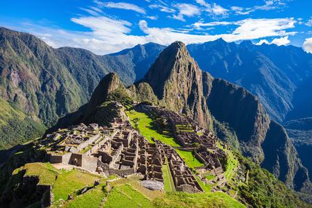 Machu Picchu, een UNESCO World Heritage Site in 1983. Een van de New Seven Wonders of the World. Stockfoto
