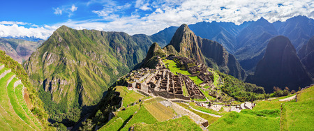 peru: Machu Picchu is one of the New Seven Wonders of the World. Stock Photo