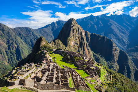 Machu Picchu is one of the New Seven Wonders of the World. Foto de archivo